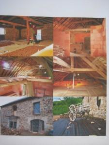 Rénovations initials de la grange en Corrèze